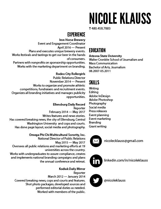 nicole's resume
